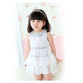 恩恩熊寶寶連衣裙 女童裙裝嬰兒雪紡無袖背心裙蛋糕裙子80137
