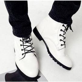 軍靴高幫鞋尖頭皮鞋 潮流短靴馬丁靴男靴子英倫 靴男士皮靴增高鞋街頭機車靴休閒鞋男鞋子皮鞋英