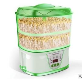 現貨供應全自動大容量雙層豆芽機培育機培育器種菜機種子種植有機食品有機芽菜機DIY養育機豆豆皆可種