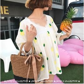 闆娘 款 ^#x1f31e 夏日 氣質款草編包 緞帶蝴蝶結編織包 手提肩背兩用籐編包