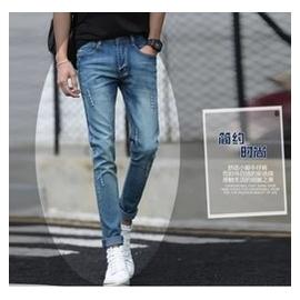 男士牛仔褲男夏薄款彈力修身小腳褲 小直筒男褲子男裝青年靴褲
