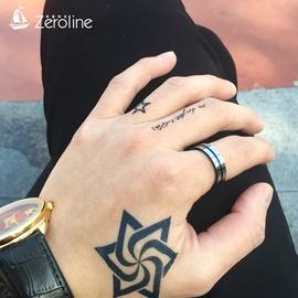男士鎢金戒指日  尾戒藍色霸氣單身戒子中食指環潮飾品