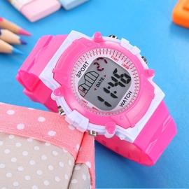 兒童手錶女孩男孩防水夜光中小學生女童手錶 多 電子錶女表
