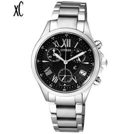 CITIZEN xC 光動能三眼計時腕錶 FB1400~78E^( 貨^)