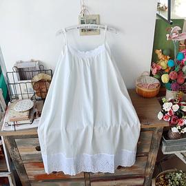 森林繫森女繫小清新打底裙goroke蕾絲花邊弔帶連衣裙內襯裙夏混搭