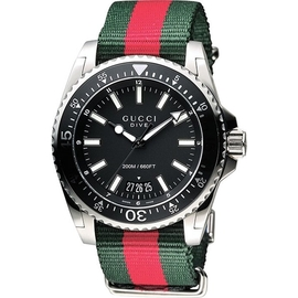 ~天母玩錶~GUCCI古馳 貨_Dive 旗艦款200米潛水腕錶_YA136206