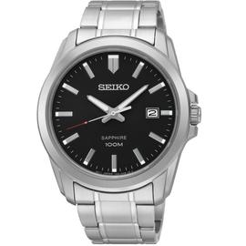 SEIKO 精工錶 藍寶石水晶鏡面 防水100M 黑底  貨 SGEH49P1