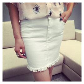 小飛像夏裝 半身裙短裙 百搭A字裙高腰牛仔包臀裙潮女X244