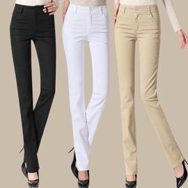 包郵女褲 修身型直筒長褲 寬松大碼女褲顯瘦通勤女褲子