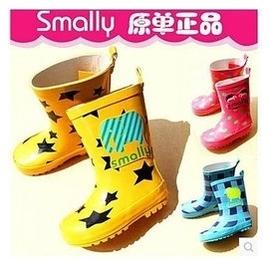 2014年新款Smally出口韓國日本原單 防滑 兒童卡通雨鞋雨靴 四季可穿優質3色 女童靴 韓國連線