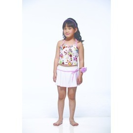 •零碼 •小女童兩截裙泳衣 泳裝 XL.EL ~贈泳帽~H2509~ 價100~