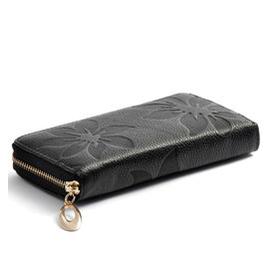 正品頭層牛皮 真皮女士錢包女中長款韓國錢夾皮夾女式迷你小包包