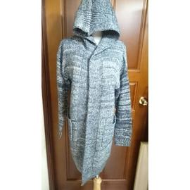 韓國RELLA 羊毛 連帽針織 長版外套