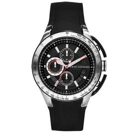 Armani Exchange 卓越科技計時腕錶-黑/45mm AX1400