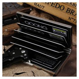 QOONG正品信用卡盒 金屬不鏽鋼 防消磁 男女年會 卡包包郵