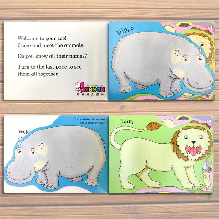 『dear zoo 亲爱的动物园』这是一本精心设计的翻翻书,翻开设计的