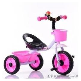 新品首發 兒童三輪車腳踏車 小孩子自行車玩具車寶寶單車2-3-4-5歲【粉色】