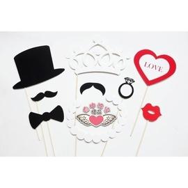 ~命中注定~鬍子紅唇眼鏡 趣味婚禮婚紗拍照道具 攝影  喜糖 棉花糖 婚禮小物 8組