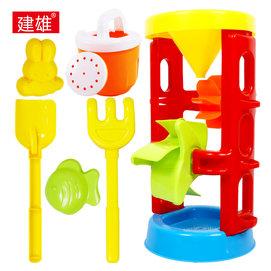 沙漏加厚戲水兒童洗澡玩具沙灘套裝鏟子耙子寶寶玩沙玩水工具