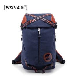 匹速男包 日韓學生書包旅遊男士背包 女雙肩包 防水旅行包圓桶包