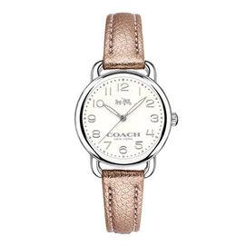 COACH 魅惑銀色 皮帶女錶~14502249 CO14502249