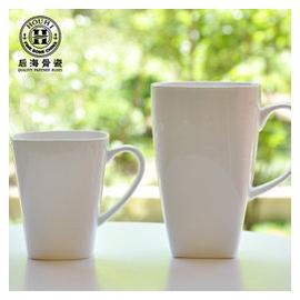 正品純白骨瓷杯子  杯陶瓷馬克杯 方形水杯帶蓋 大小三款