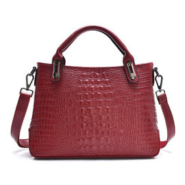 風格鱷魚紋女包真皮壓花包女士袋包單肩手提包2015 款包包