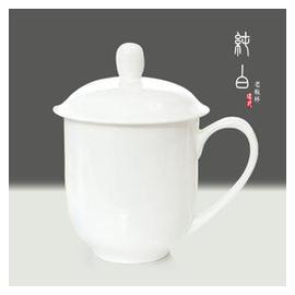 瑞玖 正品唐山無鉛純白骨瓷老板杯超大容量水杯茶杯陶瓷大杯子