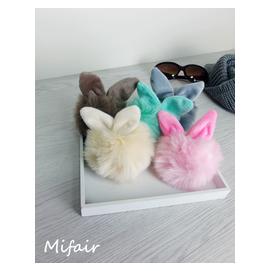 Mifairshop 韓國東大門 素色大毛球粗毛線針織帽~黑色灰色紅色深藍色~  ~毛帽針
