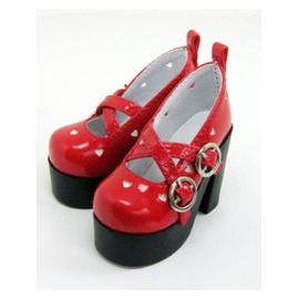 BJDFULLHOUSE 3分4分 高跟女娃娃鞋子 白 粉 黑 紅色  SH303