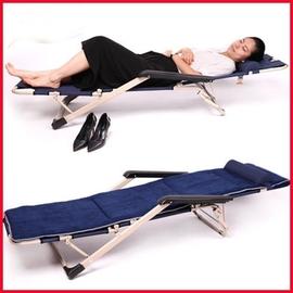 躺椅折疊午休折疊椅午睡椅辦公室簡易床行軍床椅子沙灘椅陪護睡躺椅