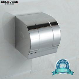 304不鏽鋼衛生間紙巾架廁所紙巾盒 衛生紙盒 廁紙架卷紙架免打孔