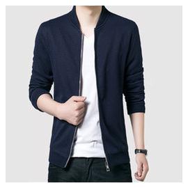 豪速春秋男士立領青年夾克男薄款外套 修身男裝大碼針織夾克衫