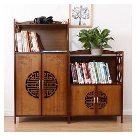 5Cgo~快樂窩~538505904891 復古書櫃子書架子客廳置物架自由 兒童單門學生收