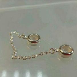 (2)PANDORA 潘朵拉°索菲爾°Trollbeads 硬環及蛇鏈 用的銀塞 925純