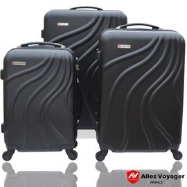行李箱 旅行箱~法國Allez Voyager奧莉薇閣~行雲流水 三件組ABS 輕量行李箱