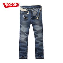 rodon男裝 薄款牛仔褲男士 中低腰牛仔長褲子男直筒 潮