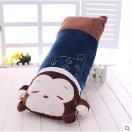 ^~喔^~ 可愛枕頭抱枕公仔毛絨玩具娃娃睡覺靠墊生日 大號送女生( 瞌睡猴子 70~75公