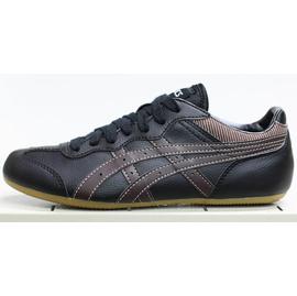亞瑟士asics HY429~9028 咖啡邊色 薄底皮質休閒鞋~五折990元,免 ~^(