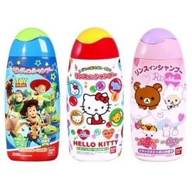 直送^~ 製bandai 兒童潤絲洗髮精 玩具總動員 kitty 拉拉熊^(130元^)