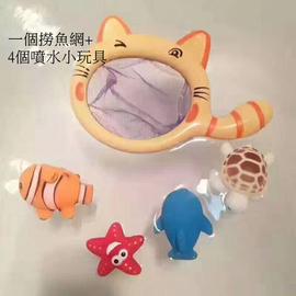 寶寶洗澡好 小貓撈魚玩具 小貓抓魚 浴室玩具 洗澡玩具 噴水玩具 戲水玩具 撈金魚玩具