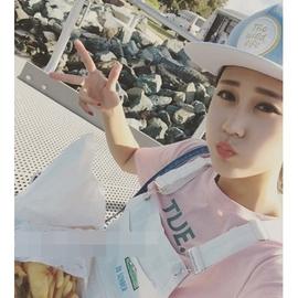 ~灰熊Q~韓國當紅帽子女款夏天 鴨舌帽粉色棒球帽潮帽小清新女生嘻哈帽遮陽帽情侶韓國帽子