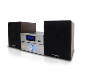 Dennys 藍芽 FM USB MP3床頭迷你音響組 MD~550BT 贈玻璃展示架