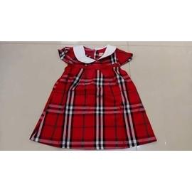 紅格連衣裙