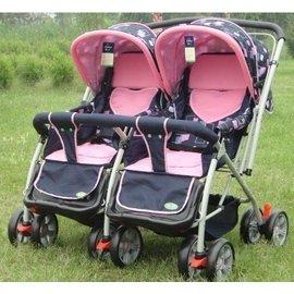 ^UU雙胞胎推車童車嬰兒雙人手推車可折疊可平躺可換向嬰兒車 雙胞胎手推車 送朋友817H8