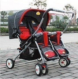紛搖^~ 款雙胞胎嬰兒車龍鳳胎手推車寶寶推車童車雙人推車推把換向 龍鳳胎雙胞胎