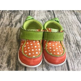 IFME 橘色點點布鞋 14.5