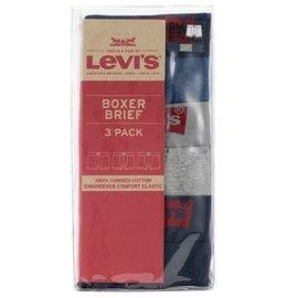 Levi's 男彈性四角內褲3入組-多種顏色尺寸