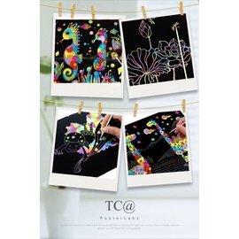 兒童趣味彩色畫刮紙10張一包