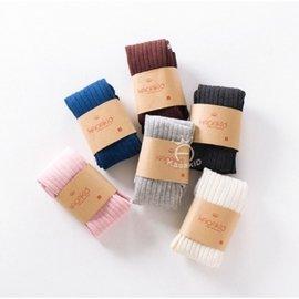 寶寶褲襪 純色羅紋褲襪 純色百搭兒童褲襪
